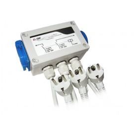 Caja de Relé 8x600W para Dos Circuitos