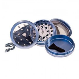Grinder Pure Clear Top Polinizador 55 mm Azul