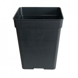Maceta cuadrada negra 5,5 L