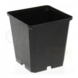 Maceta Cuadrada Negra 7x7x8cm · Teku
