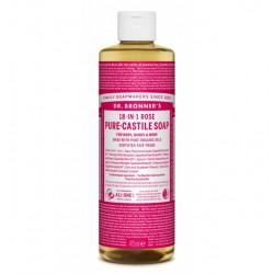 Jabón de Castilla Líquido concentrado vegano rosas