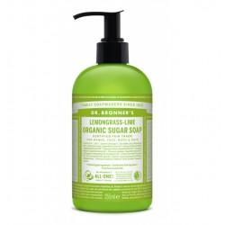 Jabón de azúcar vegano lima-lemongrass